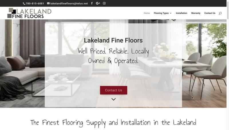 Lakeland Fine Floors Screenshot 800px