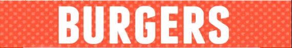 Burgers Menu Label